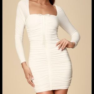 NWT Ali &Jay Snapdragon Ruched Long-Sleeve Dress